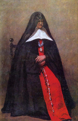 Jean-Baptiste-Camille Corot The Mother Superior of the Convent of the Annonciades - Hand Painted Oil Painting