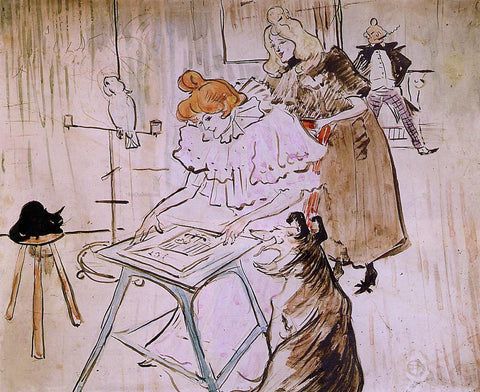 Henri De Toulouse-Lautrec The Motograph - Hand Painted Oil Painting