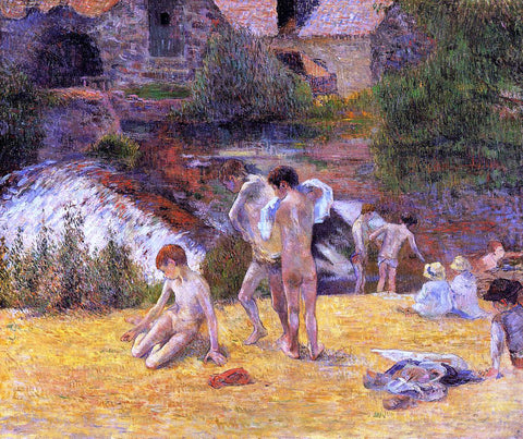 Paul Gauguin The Moulin du Bois d'Amour Bathing Place - Hand Painted Oil Painting