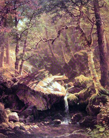 Albert Bierstadt The Mountain Brook - Hand Painted Oil Painting