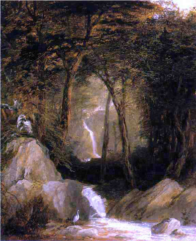 John Frederick Kensett The Mountain Stream - Hand Painted Oil Painting