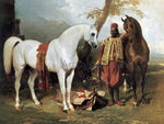 Alfred De Dreux The Mounts of Abd El Kader - Hand Painted Oil Painting