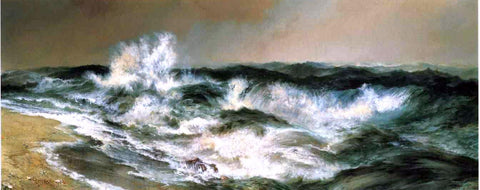 Thomas Moran The Much Resounding Sea - Hand Painted Oil Painting