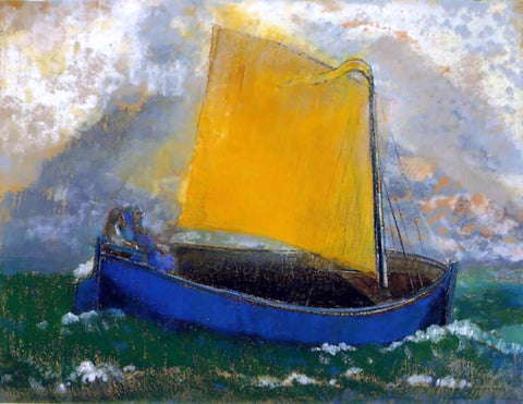 Odilon Redon The Mysterious Boat - Hand Painted Oil Painting