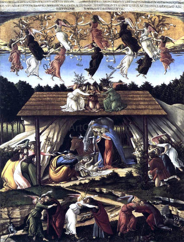 Sandro Botticelli The Mystical Nativity - Hand Painted Oil Painting