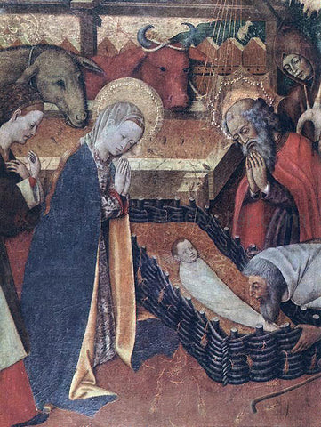 Bernat Martorell The Nativity (detail) - Hand Painted Oil Painting
