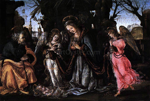 Filippino Lippi The Nativity with Two Angels - Hand Painted Oil Painting