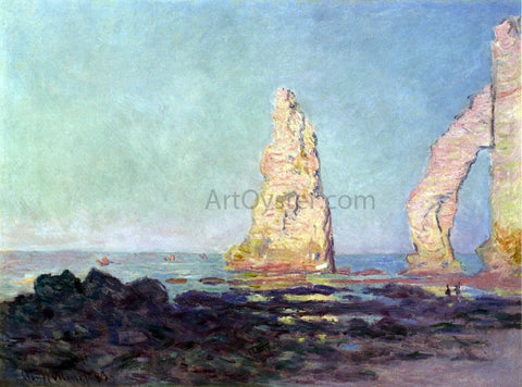 Claude Oscar Monet The Needle of Etretat, Low Tide - Hand Painted Oil Painting