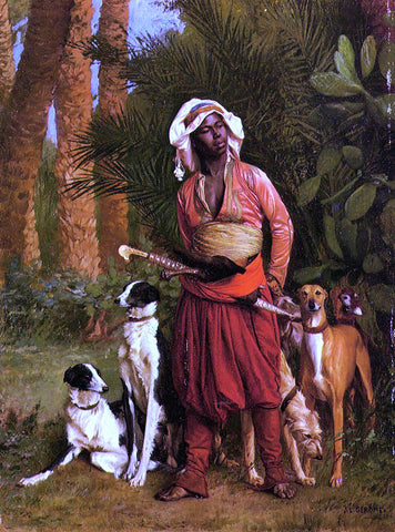 Jean-Leon Gerome The Negro Master of the Hounds - Hand Painted Oil Painting