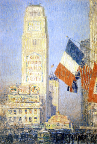 Frederick Childe Hassam The New York Bouquet, West Forty-Second Street - Hand Painted Oil Painting