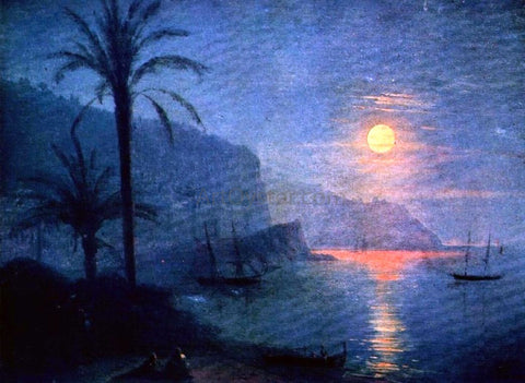 Ivan Constantinovich Aivazovsky The Nice at Night - Hand Painted Oil Painting