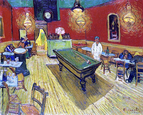 Vincent Van Gogh A Night Cafe - Hand Painted Oil Painting