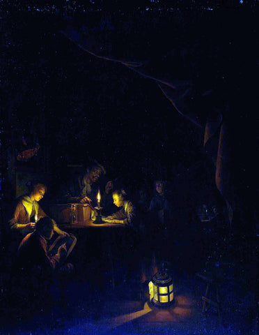 Gerrit Dou The Night School - Hand Painted Oil Painting