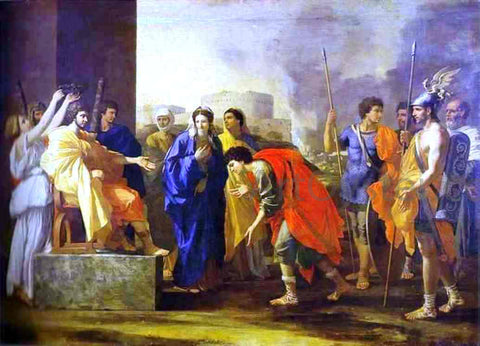 Nicolas Poussin The Noble Deed of Scipio - Hand Painted Oil Painting