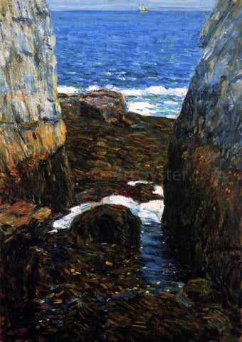 Frederick Childe Hassam The North Gorge, Appledore, Isles of Shoals - Hand Painted Oil Painting