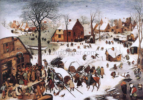 The Elder Pieter Bruegel The Numbering at Bethlehem - Hand Painted Oil Painting