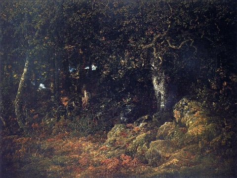 Theodore Rousseau The Oak in the Rocks - Hand Painted Oil Painting