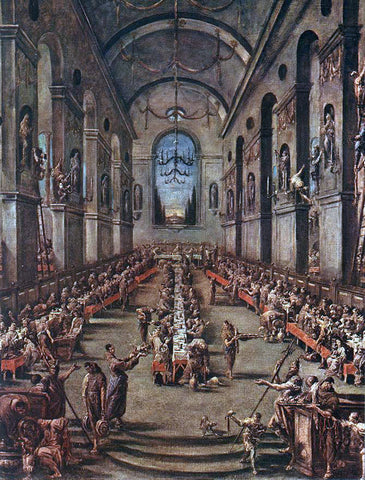 Alessandro Magnasco The Observant Friars in the Refectory - Hand Painted Oil Painting