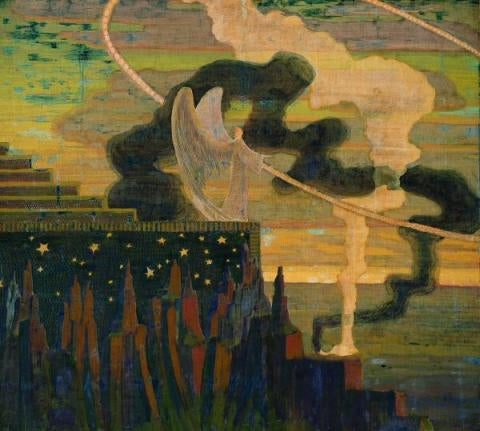 Mikalojus Ciurlionis The Offering - Hand Painted Oil Painting