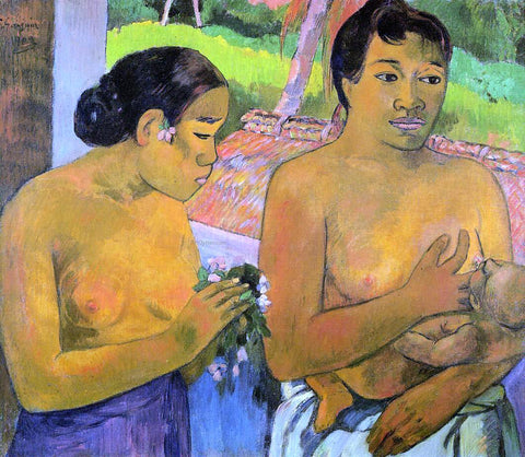 Paul Gauguin The Offering - Hand Painted Oil Painting