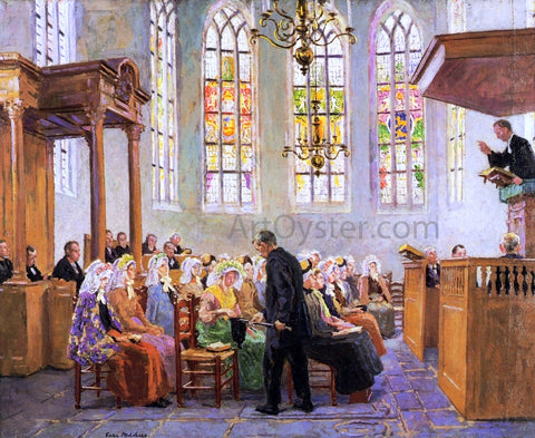 Gari Melchers The Offertory (also known as Interior of a Church) - Hand Painted Oil Painting