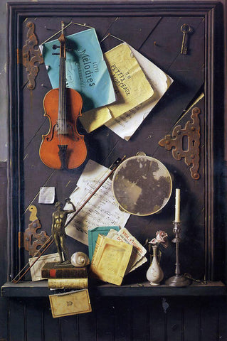 William Michael Harnett The Old Cupboard Door - Hand Painted Oil Painting