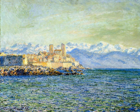 Claude Oscar Monet The Old Fort at Antibes (also known as The Fort of Antibes) - Hand Painted Oil Painting