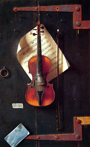 William Michael Harnett The Old Violin - Hand Painted Oil Painting