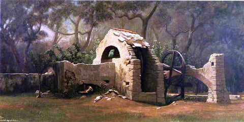 Elihu Vedder The Old Well, Bordighera - Hand Painted Oil Painting