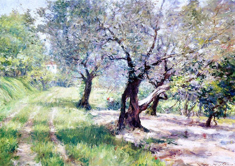 William Merritt Chase The Olive Grove - Hand Painted Oil Painting
