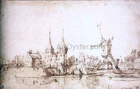 II Jan Van de Velde The Oostpoort (East Gate) at Delft - Hand Painted Oil Painting