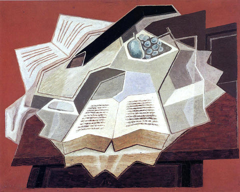 Juan Gris The Open Book - Hand Painted Oil Painting