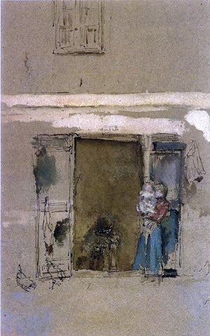 James McNeill Whistler The Open Door - Hand Painted Oil Painting