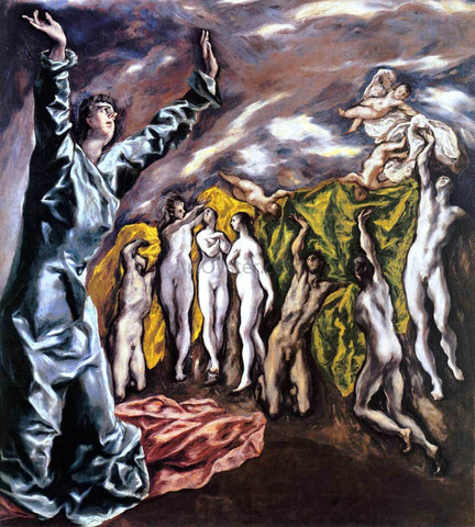 El Greco The Opening of the Fifth Seal (The Vision of St John) - Hand Painted Oil Painting