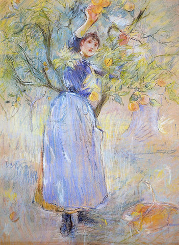 Berthe Morisot The Orange Picker - Hand Painted Oil Painting