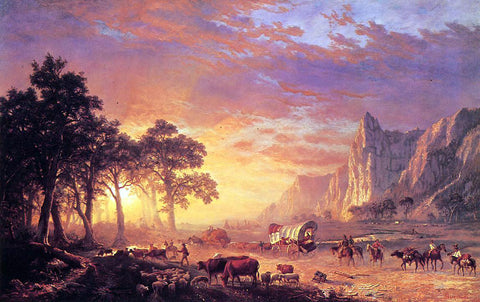 Albert Bierstadt The Oregon Trail - Hand Painted Oil Painting