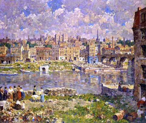 Robert Spencer The Other Shore - Hand Painted Oil Painting