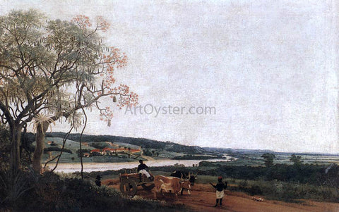 Frans Post The Ox Cart - Hand Painted Oil Painting