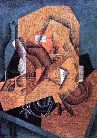 Juan Gris The Packet of Coffee - Hand Painted Oil Painting