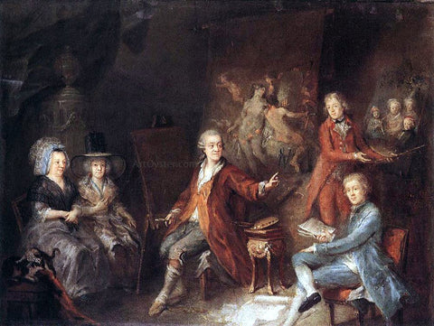 Martin Johann Schmidt The Painter and His Family - Hand Painted Oil Painting