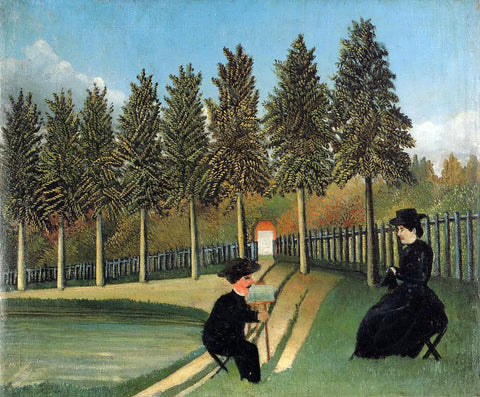 Henri Rousseau The Painter and His Wife - Hand Painted Oil Painting