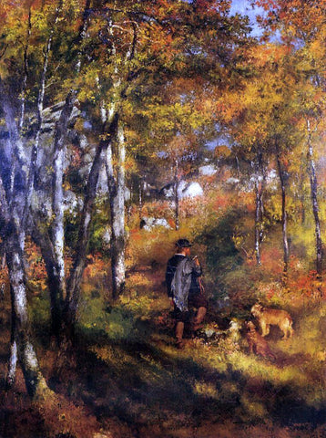 Pierre Auguste Renoir The Painter Jules Le Coeur Walking His Dogs in the Forest of Fontainebleau - Hand Painted Oil Painting