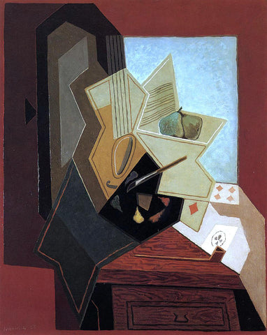 Juan Gris The Painter's Window - Hand Painted Oil Painting