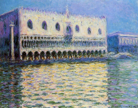 Claude Oscar Monet The Palazzo Ducale - Hand Painted Oil Painting