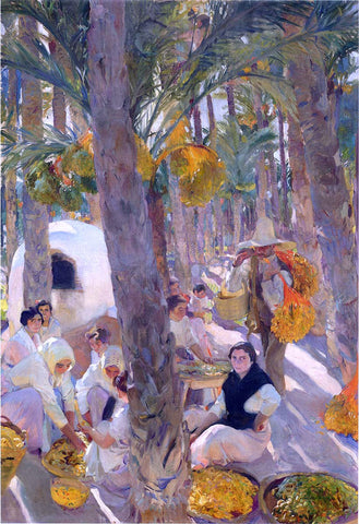 Joaquin Sorolla Y Bastida The Palm Grove - Hand Painted Oil Painting
