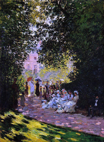 Claude Oscar Monet The Parc Monceau - Hand Painted Oil Painting