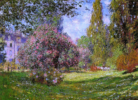 Claude Oscar Monet The Parc Monceau, Paris - Hand Painted Oil Painting