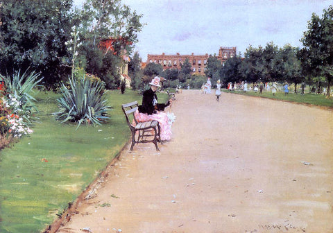 William Merritt Chase The Park - Hand Painted Oil Painting