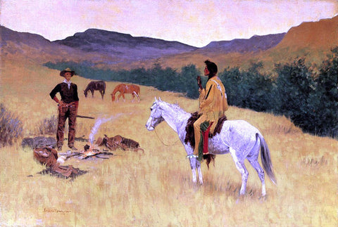 Frederic Remington The Parley - Hand Painted Oil Painting