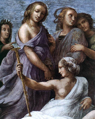 Raphael The Parnassus (detail 2) (Stanza della Segnatura) - Hand Painted Oil Painting